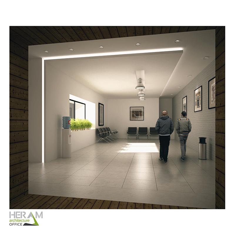 طراحی داخلی ساختمان جدید شهرداری تفرش